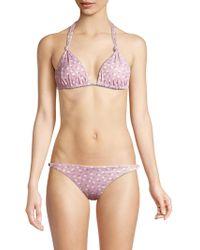 Eberjey Swim - Fleur Karli Floral Tri Bikini Top - Lyst