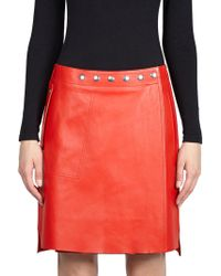 Acne Studios - Studded Leather Skirt - Lyst