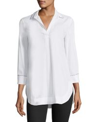 Piazza Sempione - Collared V-neck Shirt - Lyst