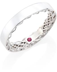 Roberto Coin - Symphony 18k White Gold Ring - Lyst