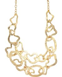 Kenneth Jay Lane - Two-row Satin Gold Wavy Necklace - Lyst
