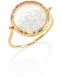 Aurelie Bidermann - Diamond & 18k Yellow Gold Chivor Ring - Lyst