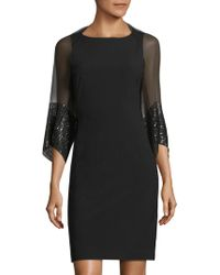 Saks Fifth Avenue - Sequined Silk Shrug - Lyst