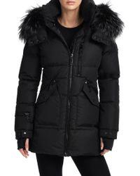 Sam. - Fox Fur Trim Cruiser Puffer Jacket - Lyst