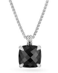 David Yurman - Chatelaine? Pendant Necklace With Black Onyx And Diamonds - Lyst