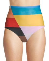 Mara Hoffman - Lydia Rainbow High-waist Bikini Bottom - Lyst