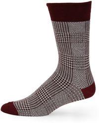 Saks Fifth Avenue - Collection Glen Plaid Socks - Lyst