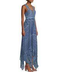 BCBGMAXAZRIA - Lace-up V-neck Asymmetrical Dress - Lyst