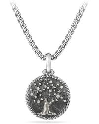 David Yurman - Cable Collectibles Tree Of Life Amulet With Diamonds - Lyst