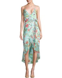 Alice + Olivia - Mable Ruffled Floral Wrap Dress - Lyst