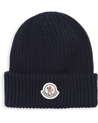 Moncler - Ribbed Knit Beanie - Lyst