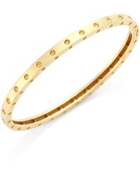 Roberto Coin - 18k Yellow Gold Symphony Dotted Bangle Bracelet - Lyst