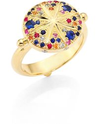 Temple St. Clair - Sorcerer Diamond, Multicolor Sapphire & 18k Yellow Gold Ring - Lyst