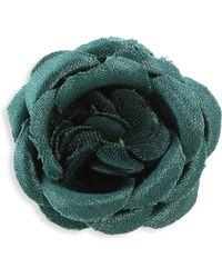 Hook + Albert - Zoo Silk Lapel Flower - Lyst