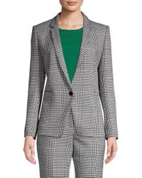 BOSS - Jemaromina Plaid Stretch Jacket - Lyst
