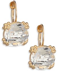 Anzie | Dew Drop Cluster White Topaz & 14k Yellow Gold Drop Earrings | Lyst