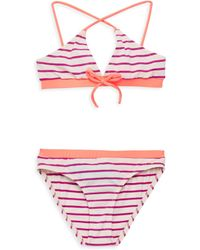 Melissa Odabash - Little Girl's & Girl's Sky Striped Bikini Top And Briefs Set - Lyst