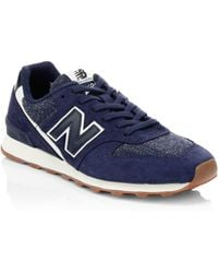 New Balance - Commercial 696 Mesh & Suede Trainers - Lyst