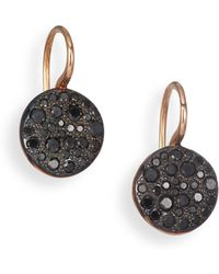 Pomellato - Sabbia Black Diamond & 18k Rose Gold Drop Earrings - Lyst