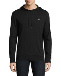 Lacoste - Cotton Pullover Hoodie - Lyst
