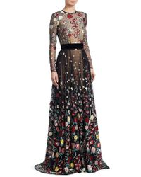 Zuhair Murad - Flail Embroidered Mesh Gown - Lyst