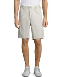 Rag & Bone - Solid Cotton Shorts - Lyst