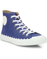 Chloé | Kyle Suede High-top Trainers | Lyst