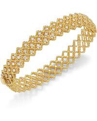 Roberto Coin - Barocco Diamond & 18k Yellow Gold Bangle - Lyst