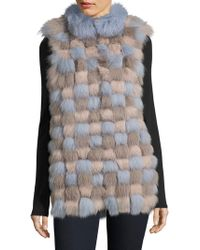 Saks Fifth Avenue - Julia And Stella Popcorn Fox Fur Vest - Lyst