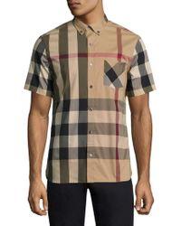 Burberry - Thornaby Check Short Sleeve Shirt - Lyst