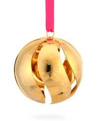 Georg Jensen - 24k Gold-plated Brass Cutout Christmas Ball Ornament - Lyst