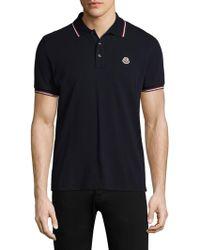 Moncler - Cotton Polo - Lyst