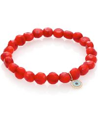 Sydney Evan | Bright Coral Bracelet | Lyst