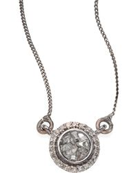 Shana Gulati | Alex Raw Sliced Diamond Pendant Necklace | Lyst