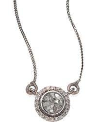 Shana Gulati - Alex Raw Sliced Diamond Pendant Necklace - Lyst