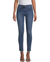 St. John - Stretch Slim Ankle Jeans - Lyst