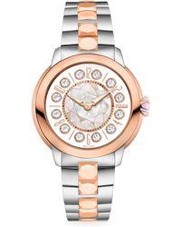 Fendi - Ishine Sterling Silver & 18k Rose Gold Watch - Lyst