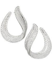 Adriana Orsini - Wrap Around Crystal Teardrop Earrings - Lyst