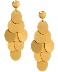 Nest - Brushed Chandelier Earrings - Lyst