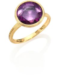 Marco Bicego - Jaipur Amethyst & 18k Yellow Gold Medium Stackable Ring - Lyst