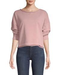 AMO - Cropped Sweatshirt - Lyst