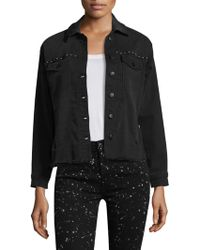 Joe's - Floral Embroidered Studded Jacket - Lyst