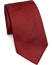 Emporio Armani - Static Stripe Silk Tie - Lyst