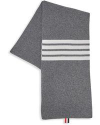 Thom Browne - Full Needle Rib Wool Scarf - Lyst