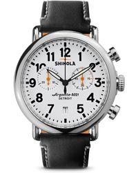 Shinola - Runwell Stainless Steel Chronograph Watch - Lyst