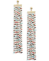 Elizabeth and James - Emmy Beaded Chain Fringe Earrings - Lyst