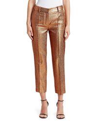 Roberto Cavalli - Women s Lurex Cropped Trousers - Gold - Size 42 (6) - 8984a0e30