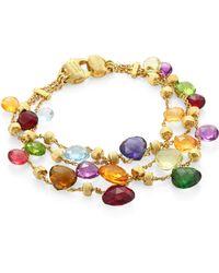 Marco Bicego | Paradise Semi-precious Multi-stone Three-strand Bracelet | Lyst