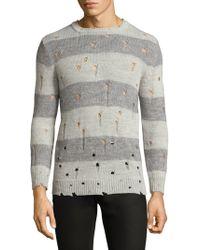 IRO - Long-sleeve Perforated Stripe Sweater - Lyst