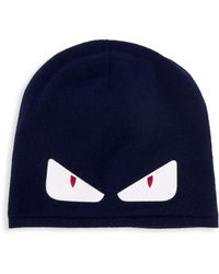 c7b7b4c7af7 Fendi Knitted Monster Eye Beanie in Black for Men - Lyst